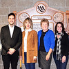 Photo courtesy of Lisa Barnett<br /> A large wooden plaque between the auditorium doors was created by Weberding Carving Shop as a token of appreciation to the Rural Alliance for the Arts and Fred and Jolene Rockwood Foundation. Seeing it for the first time are (from left) RAA executive director Sarah Heppner and board members Paul Satchwill, Anne Amrhein, Jolene Rockwood, Tina Longstreth and Anne Raver.