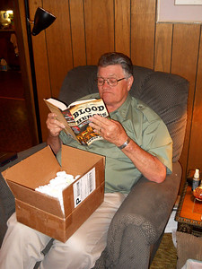 BELATED BIRTHDAY GIFT #2 I got Joe a really good book about the Alamo. Unfortunately, it was the only copy at the bookstore, so I may have to order me one. I love all things Alamo.