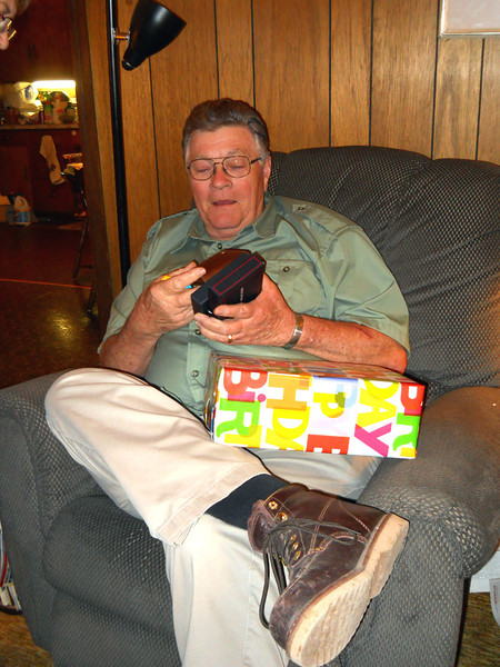 JOE'S BELATED BIRTHDAY PRESENT<br /> I got him a new tri-fold wallet from Tommy Hilfiger, as I heard he was desperately in need of one.