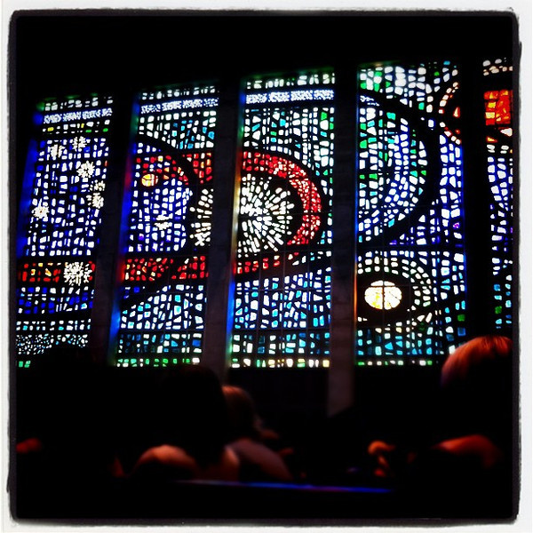Gorgeous windows at the church.