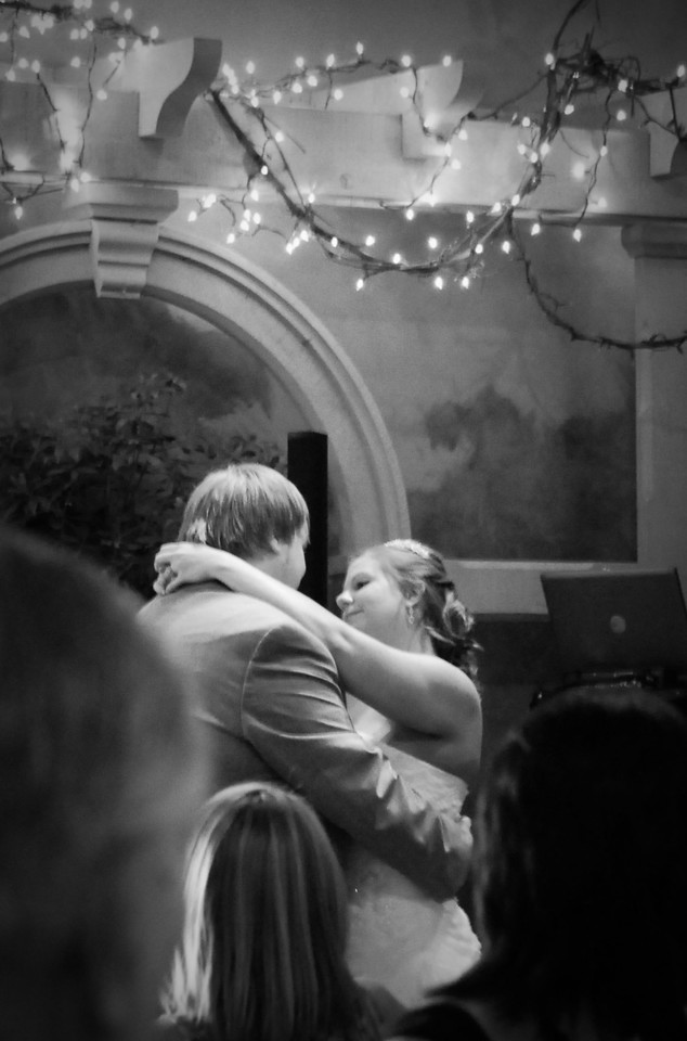 Brittany & Jonathon's first dance -- reception was at the Huntsville Botanical Gardens Arbor Room
