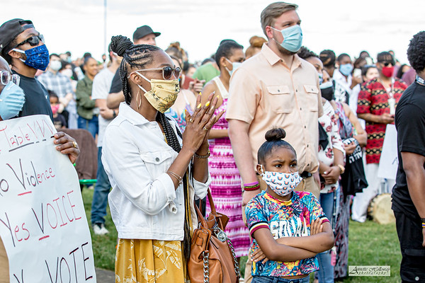 NEWS: JUN 05: Hampton, VA Black Lives Matter 757 Peace Rally and Memorial