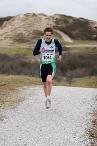 NK Veldloop voor Gemeenteambtenaren 2008. Het parcour door de zuidduinen van Katwijk. Winnaar van de 6 km loop.
