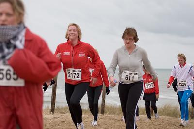 NK Veldloop voor Gemeenteambtenaren 2008. Het parcour door de zuidduinen van Katwijk.