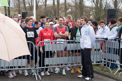 NK Veldloop voor Gemeenteambtenaren 2008. De startlocatie van alle afstanden. Start van de eerste 6 km loop.