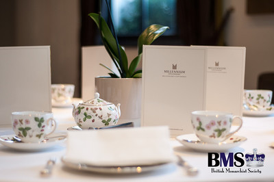 Place setting at the BMS Accession Tea at the London Millennium Mayfair Hotel.