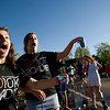 "Boulder High School cheerleaders Becky Levine, 15, (left) and Kendall Hudson, 16, hand out water cups to runners during the annual Bolder Boulder 10K Road Race in Boulder, Colorado, Monday, May 31, 2010. <br /> <br /> Kasia Broussalian<br /> <br /> For a video, please visit  <a href=""http://www.dailycamera.com"">http://www.dailycamera.com</a>"