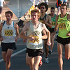 Brian Medigovich, from Alamosa leads the Citizens' Race of the Bolder Boulder on Monday May 31, 2010. At left is Josh Glaab and at right Matt Levassiur.<br /> Photo by Paul Aiken / The Camera / May 31, 2010