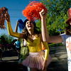 "Kayleigh Pigg, 14, (right) and Sydney Swenson, 15, cheer on runners during the annual Bolder Boulder 10K Road Race in Boulder, Colorado, Monday, May 31, 2010. <br /> <br /> Kasia Broussalian<br /> <br /> For a video, please visit  <a href=""http://www.dailycamera.com"">http://www.dailycamera.com</a>"