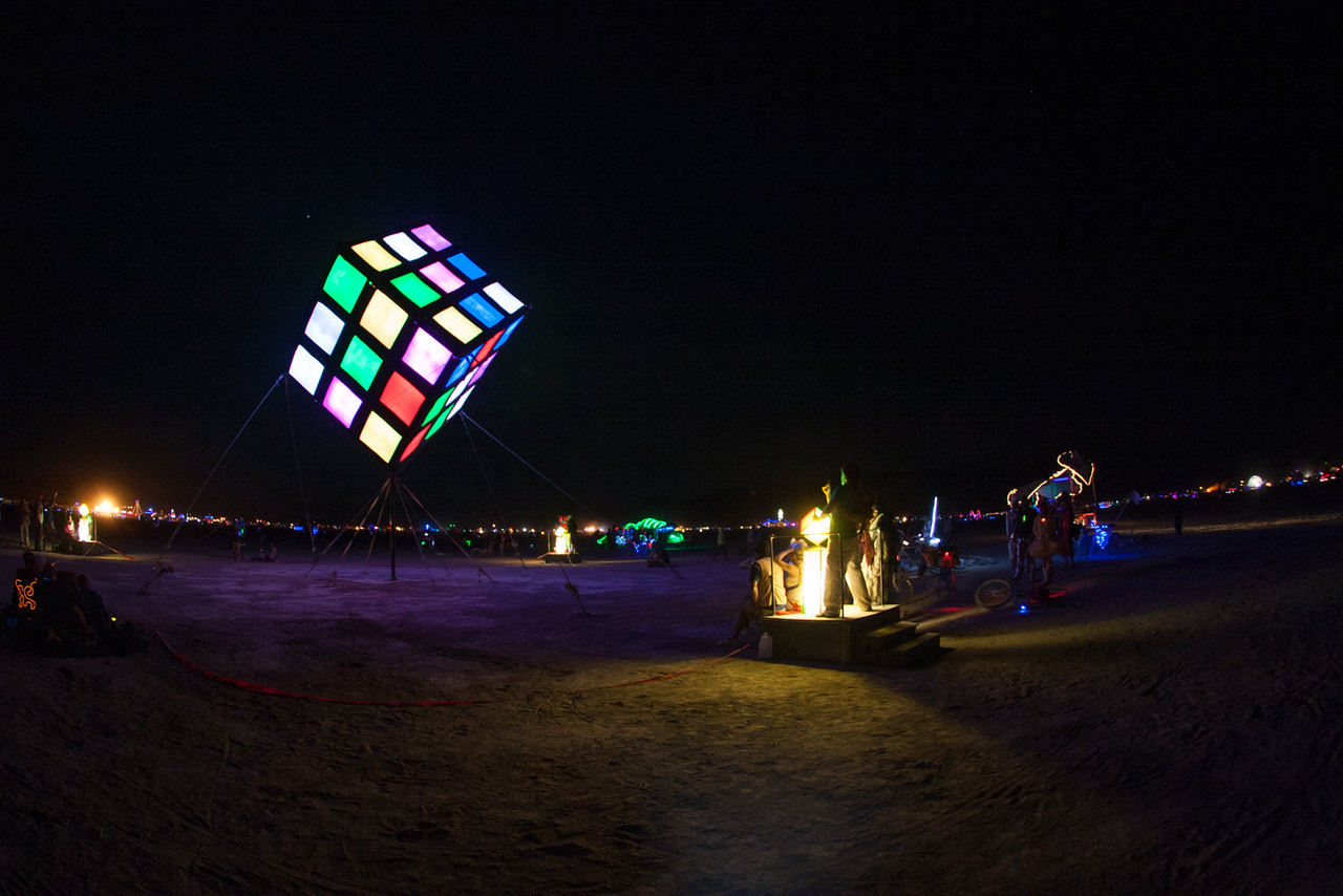 40' high interactive Groovik's Cube