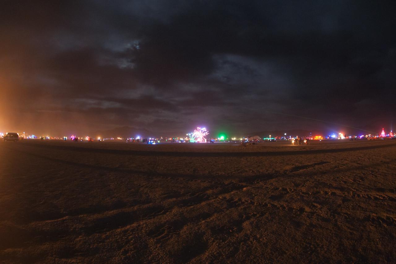 BRC skyline at night