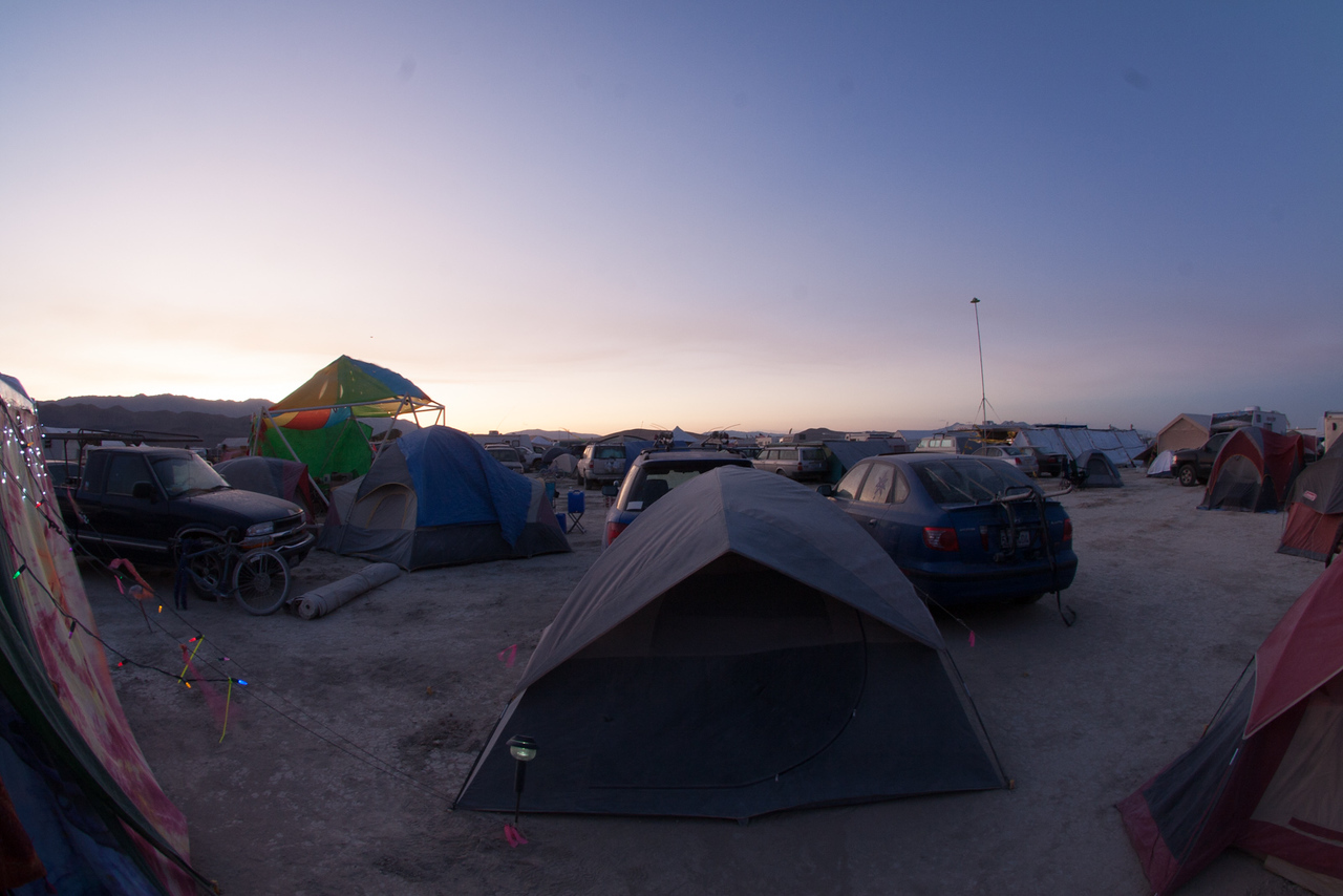 Our tent at sundown.