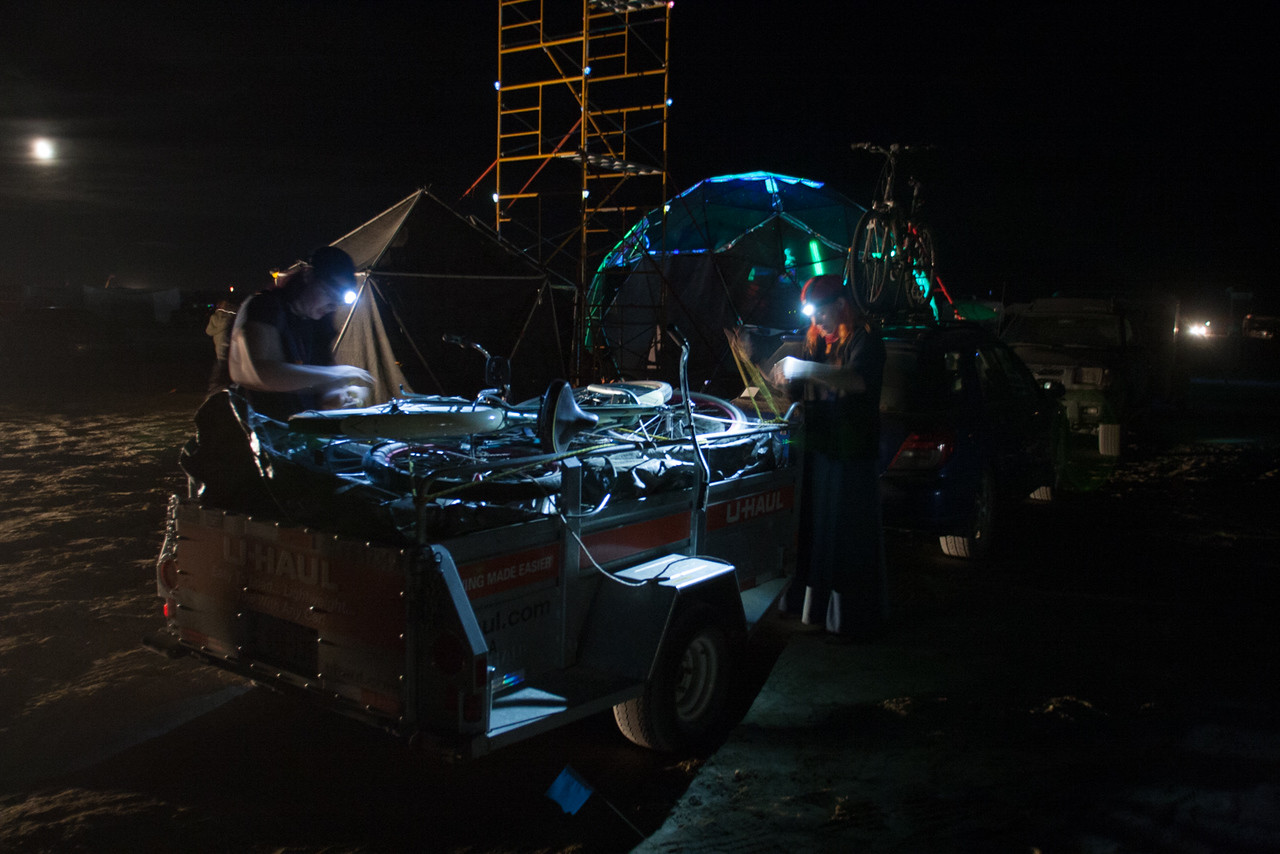 Arriving on the playa in the middle of the night.