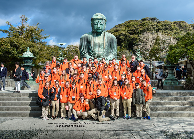 Official Group Shots, Blaine Band To Japan 2017