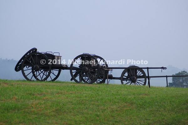Battle of Bull Run - Caissons on Battlefield