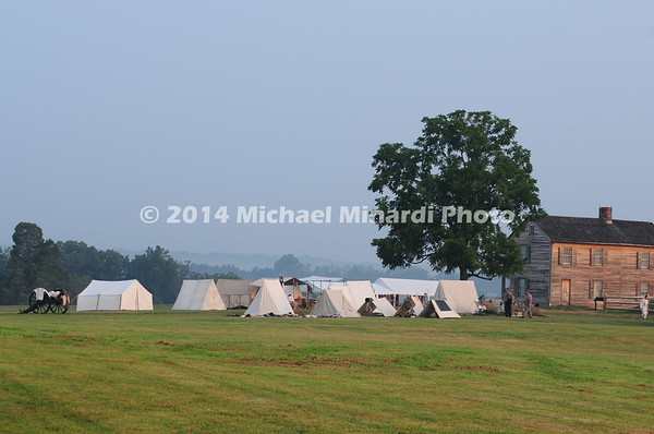 Henry House, Confederate encampment