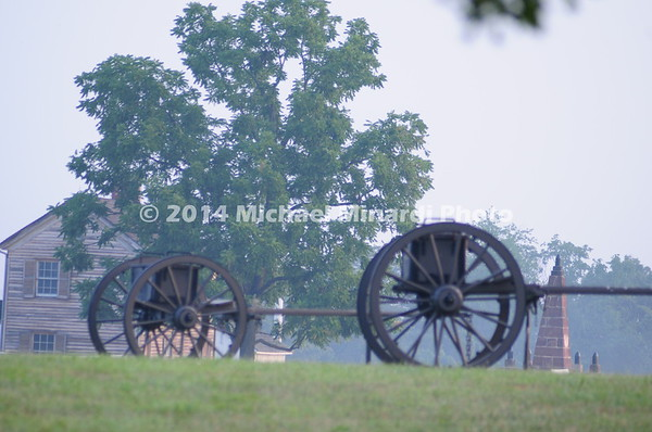 Battle of Bull Run - Caissons parked near the Henry House