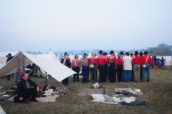 Battle of Bull Run - Union troops reveille