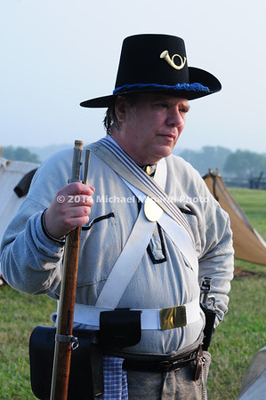 Battle of Bull Run - A Confederate Soldier of the Black Hat Regiment