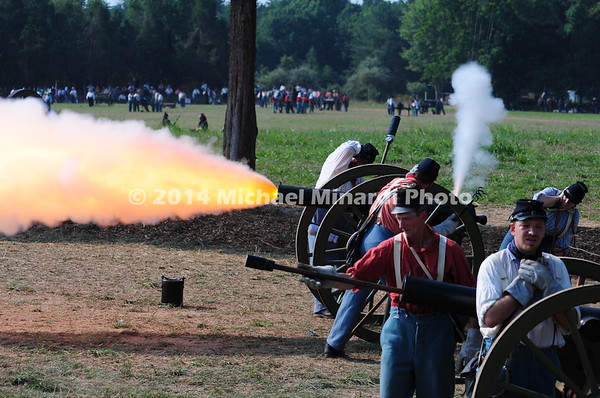 Battle of Bull Run - Confederates - Fire Cannon