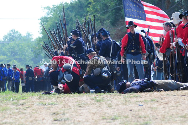 Battle of Bull Run - Wounded Union Soldiers