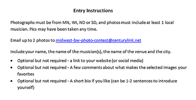Entry instructions 27MAY2021