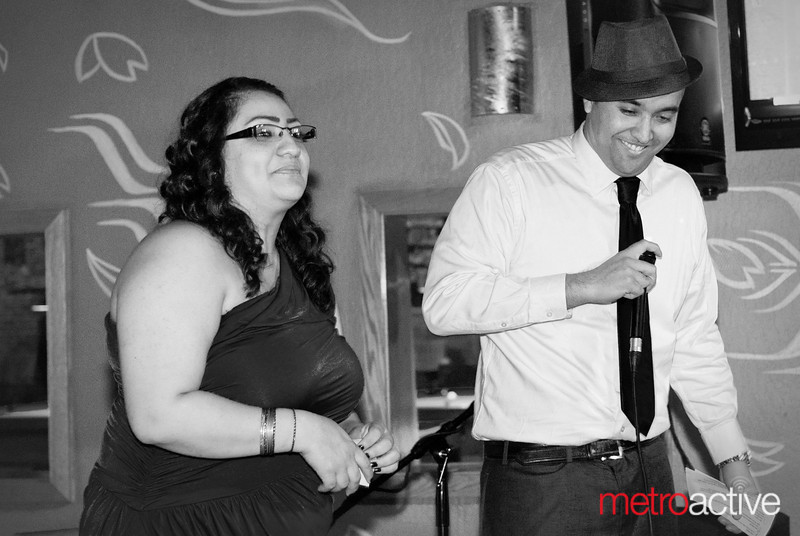 Crescencia Sanchez and Marcel Bauduin MCed the event.<br /> <br /> Photo by Jessica Shirley-Donnelly, JRSD Photography