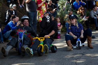 Annual bigwheel race in San Francisco