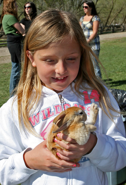 Not only was this bunny fun to touch, it was also so beautiful.