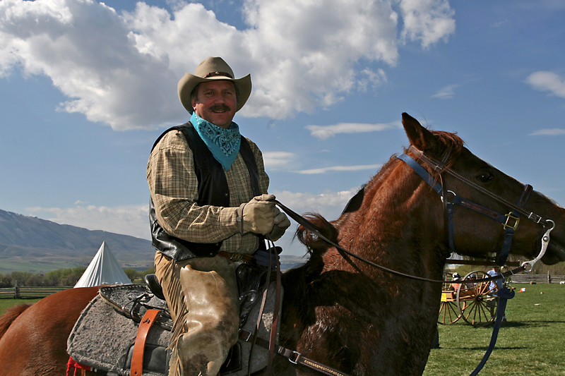 Hey, what's Earl doing on a horse? He's usually on the Valley Channel! Where's your camera, Earl?