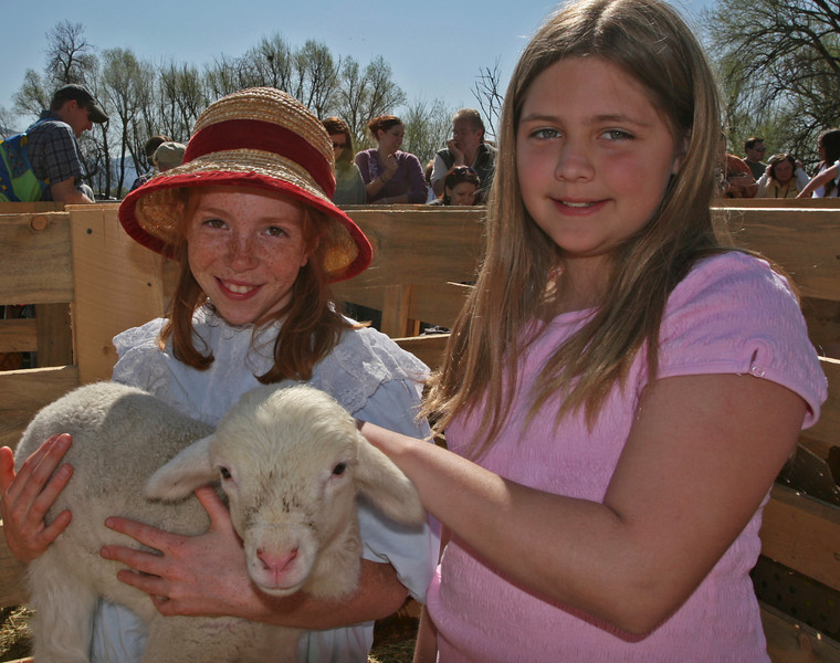 Young kids, older kids, and grown ups all had fun interacting with the animals at Baby Animal Days.