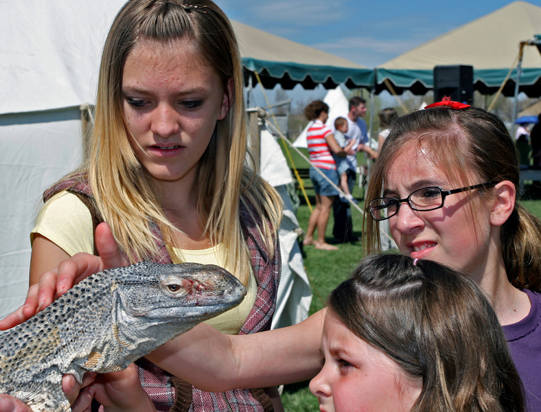 Some folks had a macabre fascination with the reptiles brought by Reptile Rescue.