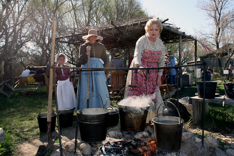 Mary will be helping to interpret our Pioneer Settlement this summer.