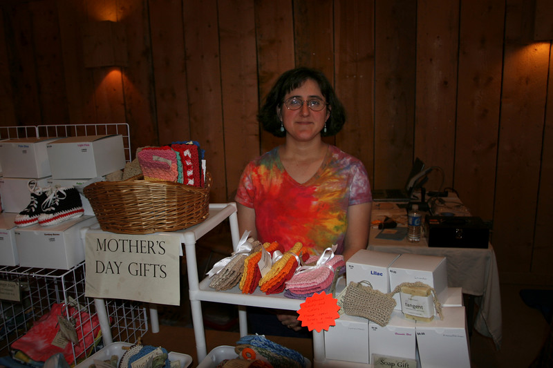 Sara is a vendor who makes handcrafted fiber arts items. It was great to see her again from 2006.