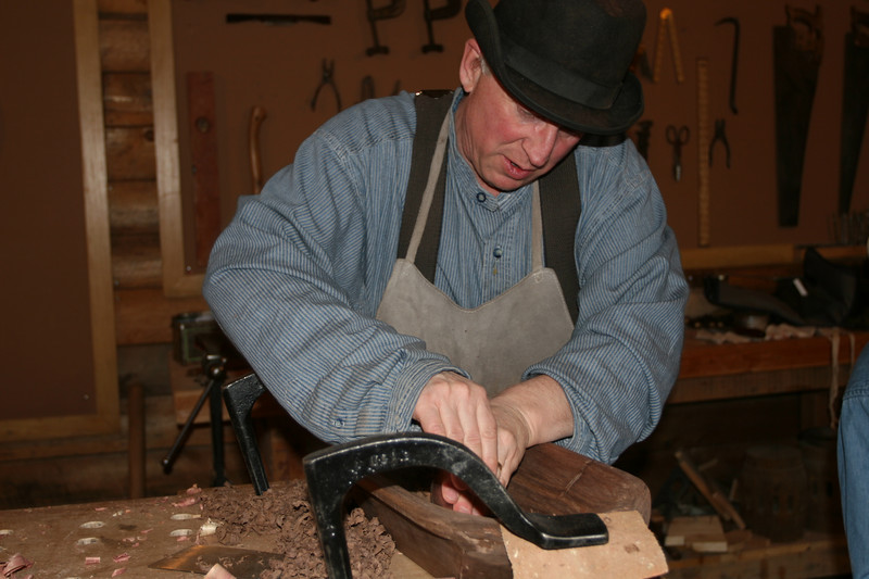 Roger is one of the skilled wood workers in Patch's Woodwright Shop.