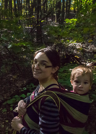 Baby Wearing in the Woods 10-8-13