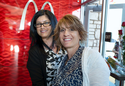 Theresa Owens and daughter Michele both work for McDonald's. Baccarat crystal chandeliers, sconces, pendant lights decorate McDonald's restaurant located 3700 Paradise Road at Twain in Las Vegas Mayor Oscar Goodman and Carolyn Goodman on hand for the opening of Tom Arlt's 35th McDonalds restaurant.