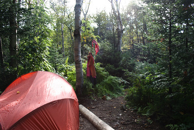 Our camp on Sunday morning.