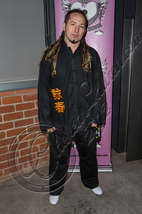 "LOS ANGELES, CA - DECEMBER 12:  Guitarist Zoltan Bathory of Five Finger Death Punch attends The Backstage Artist Lounge's 12-12-12 industry event supporting the ""I Have A Dream"" foundation at The Gibson Showroom on December 12, 2012 in Los Angeles, California.  (Photo by Chelsea Lauren/WireImage)"