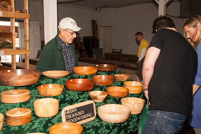 Patriot photo by Roxanne Richardson Delano Schucker crafts bowls of various woods both local and tropical.
