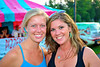 Fellow 2003 grads, Emily Waldt and Ariana Casscles, at the 2011 Baldwinsville Alumni weekend presented by the C. W. Baker Alumni Association at Paper Mill Island in Baldwinsville, New York on Friday, August 5, 2011.