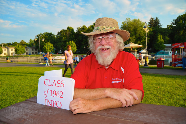 Jim Snow ('62) looking for members of the Class of 1962 during the 2011 Baldwinsville Alumni weekend presented by the C. W. Baker Alumni Association at Paper Mill Island in Baldwinsville, New York on Friday, August 5, 2011.