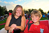 Amy Horton Ocasio ('91) with her son and future alumnus, Noah, enjoying the entertainment at the 2011 Baldwinsville Alumni weekend presented by the C. W. Baker Alumni Association at Paper Mill Island in Baldwinsville, New York on Friday, August 5, 2011.