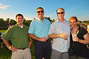 Joe Sarceni ('90 and current Mayor of B'ville), Pete DeBottis ('80), Andy Caruso ('80) and Tami Falter Caruso ('77) at the 2011 Baldwinsville Alumni weekend presented by the C. W. Baker Alumni Association at Paper Mill Island in Baldwinsville, New York on Friday, August 5, 2011.