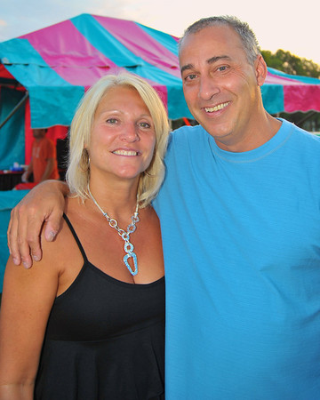 Valerie Payne Gould ('77) with Mike Ruvino at the 2011 Baldwinsville Alumni weekend presented by the C. W. Baker Alumni Association at Paper Mill Island in Baldwinsville, New York on Friday, August 5, 2011.