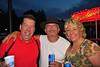 Ed Norton ('77), John Koegel, and Missy Norton Hotaling enjoying the 2011 Baldwinsville Alumni weekend presented by the C. W. Baker Alumni Association at Paper Mill Island in Baldwinsville, New York on Friday, August 5, 2011.