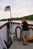 Merrie Cunningham Thomas ('81) enjoying the Mid-Lakes Navigation Lunch Cruise on the Seneca River during the 2011 Baldwinsville Alumni weekend presented by the C. W. Baker Alumni Association on Saturday, August 6, 2011.