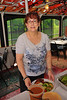 Barbara Matthews ('72) at the buffet during the Mid-Lakes Navigation Lunch Cruise on the Seneca River during the 2011 Baldwinsville Alumni weekend presented by the  C. W. Baker Alumni Association on Saturday, August 6, 2011.