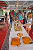 A buffet of BBQ Dinosaur pork and chicken, rolls, salt potatos, salad and corn bread was served during the Mid-Lakes Navigation Lunch Cruise on the Seneca River during the 2011 Baldwinsville Alumni weekend presented by the C. W. Baker Alumni Association on Saturday, August 6, 2011.