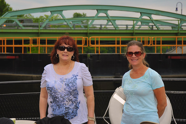 Barbara and Betsy Matthews ('71) during the Mid-Lakes Navigation Lunch Cruise on the Seneca River during the 2011 Baldwinsville Alumni weekend presented by the  C. W. Baker Alumni Association on Saturday, August 6, 2011.